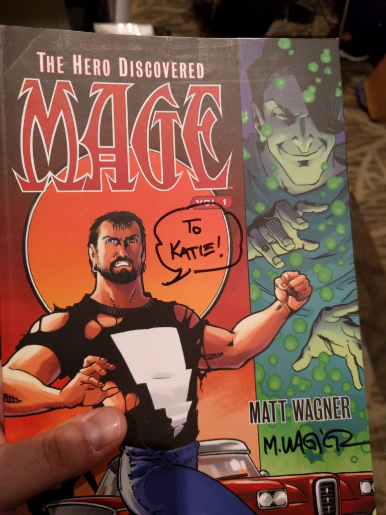 """Signed copy of """"Mage: Hero Discovered Vol. 1"""""""
