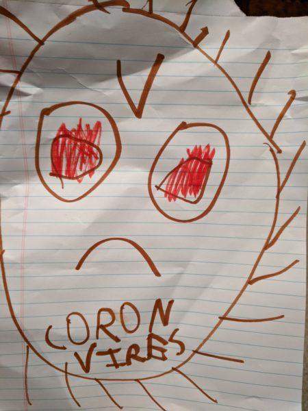 Angry coronavirus.